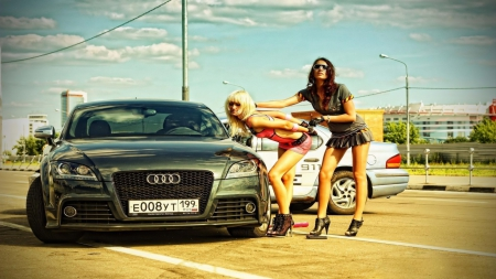 Pitbulls And Girls Wallpaper Audi Babes Girls And Cars Amp Cars Background Wallpapers