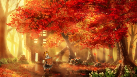 Pretty Anime Falling Angel Wallpapers 1920x1080 Hd Touhou Autumn Other Amp Anime Background Wallpapers On