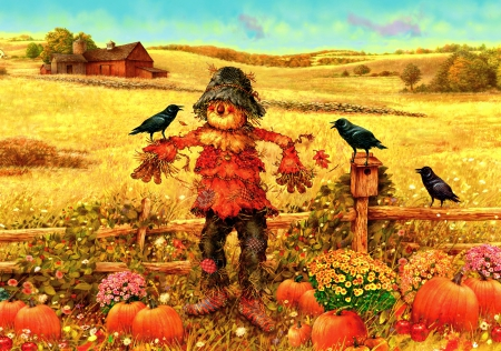 Fall Pumpkin Patch Wallpaper Scarecrow Other Amp Abstract Background Wallpapers On