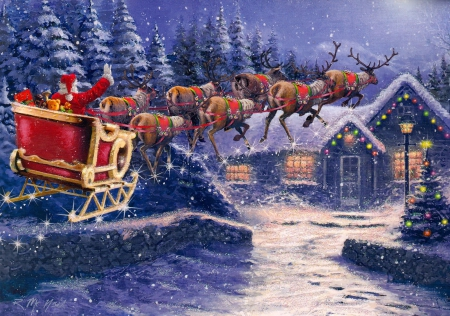 3d Snowy Cottage Animated Wallpaper Free Download Santa S Sleigh House Other Amp Abstract Background