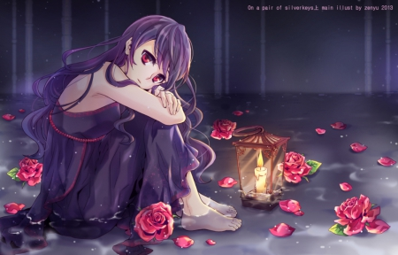 Lonely Girl Wallpaper For Desktop Lonely Rose Other Amp Anime Background Wallpapers On