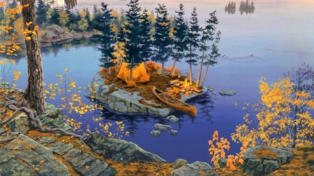Free Fall Season Wallpapers ★autumn Camping★ Lakes Amp Nature Background Wallpapers On