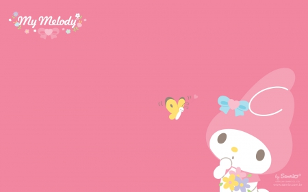 Cute Kitty Cartoon Wallpaper My Melody Hello Kitty Amp Anime Background Wallpapers On