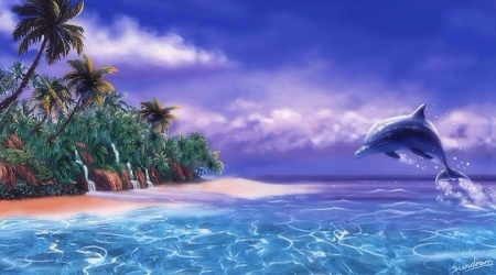 Live 3d Dolphin Wallpaper Tropical Dolphin Oceans Amp Nature Background Wallpapers