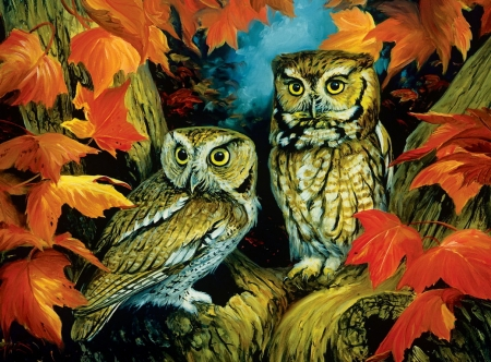 Fall Sunflower Wallpaper Autumn Owls Other Amp Abstract Background Wallpapers On