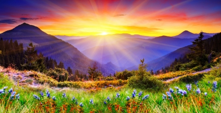 Colorful Fall Scene Wallpaper Mountain Sunrise Beaches Amp Nature Background Wallpapers