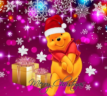 Cute Pooh Bear Wallpapers Pooh Christmas 3d And Cg Amp Abstract Background