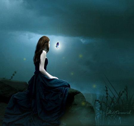Sad Girl Sitting Alone Hd Wallpapers Solitary Ground Fantasy Amp Abstract Background Wallpapers