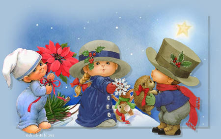 Cute Trumpet Wallpapers Christmas Scene Collages Amp Abstract Background