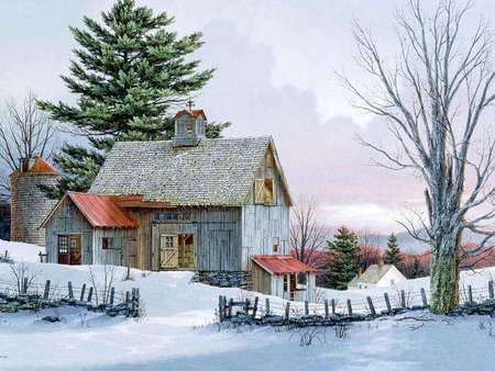Snow Village 3d Live Wallpaper And Screensaver Beautiful Old Country Barn Farms Amp Architecture