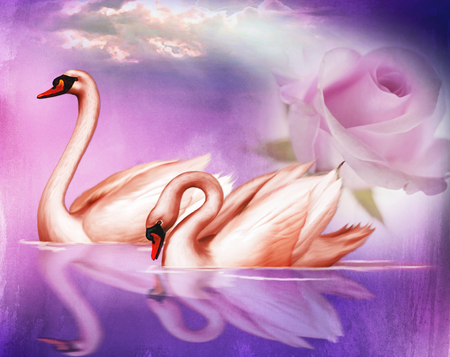Lady Butterfly Hd Wallpaper Pretty Swans Fantasy Amp Abstract Background Wallpapers On