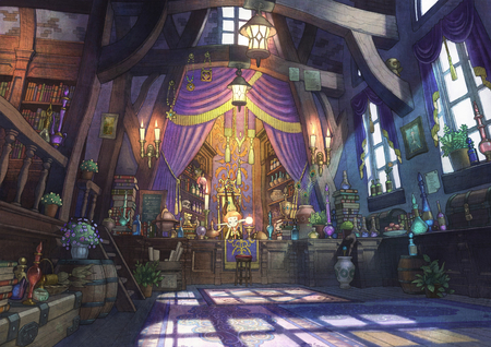 Howls Moving Castle Hd Wallpaper Magic Shop Other Amp Anime Background Wallpapers On