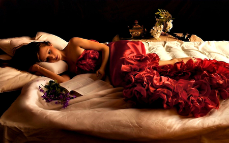 Dream Girl Hd Wallpaper Sleeping Beauty Models Female Amp People Background