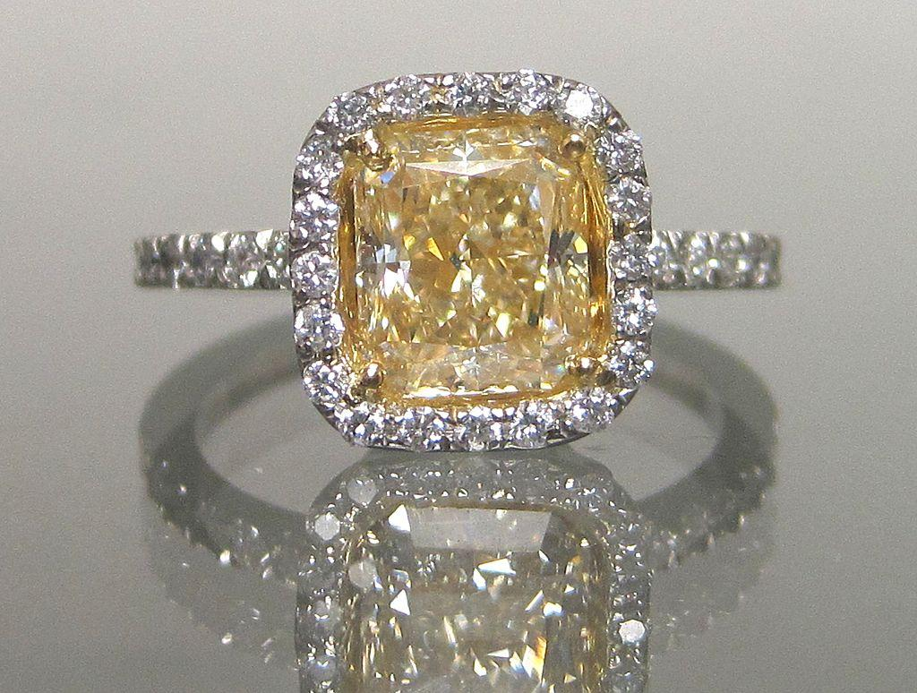 the best vintage engagement rings vintage wedding ring Yellow Diamond Engagement