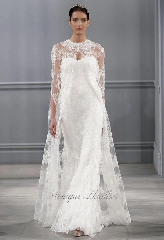 the next wedding dress trend wedding dress cape cape Spring Bridal Collection monique lhullier spring