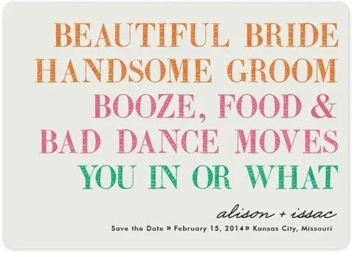 13 Funny Save the Dates Woman Getting Married