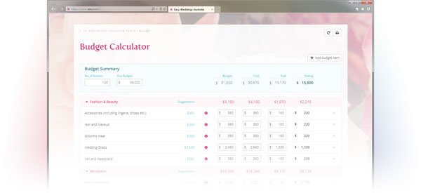 6 Online Wedding Budget Planners That Will Help You Save - wedding budget calculator