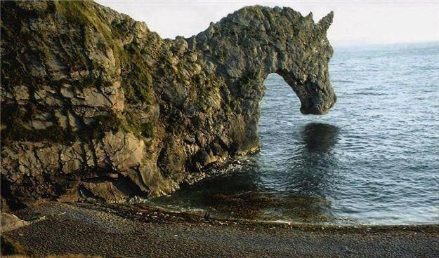 útes připomínající koně
