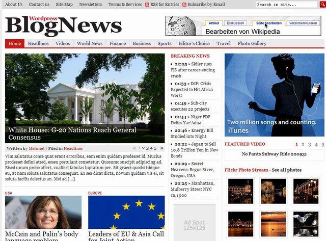 15 Professional News Wordpress Themes - Dobeweb - online newspaper template