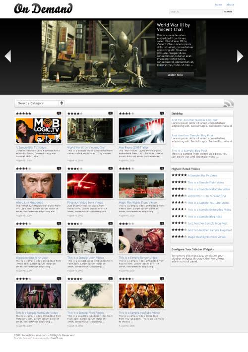 10+ Best Free and Premium Video Wordpress Themes - Dobeweb