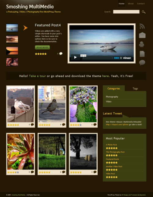 10+ Best Free and Premium Video Wordpress Themes - Dobeweb - podcast website template