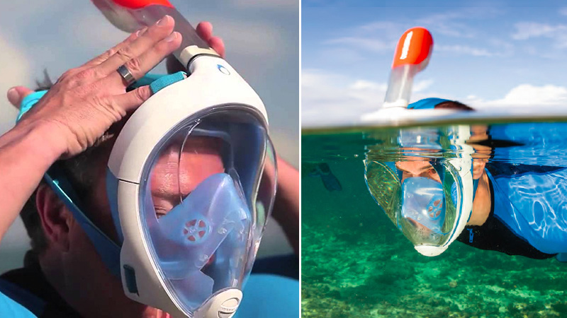 Snorkel Mask That Lets You Breath Normally 021