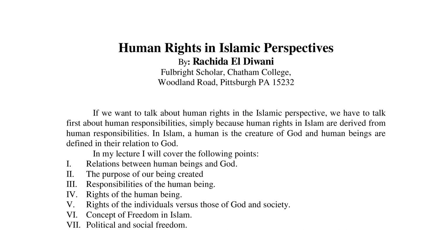 Define Diwani Rights Rachida 039s Human Rights In Islamic Perspective Pdf Docdroid