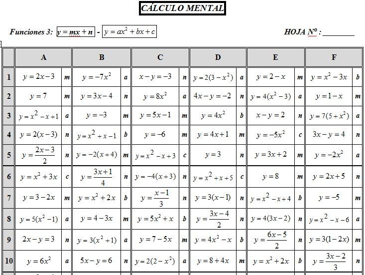 TABLAS DE CÁLCULO DEL BLOQUE VII FUNCIONES Y SUCE - funciones