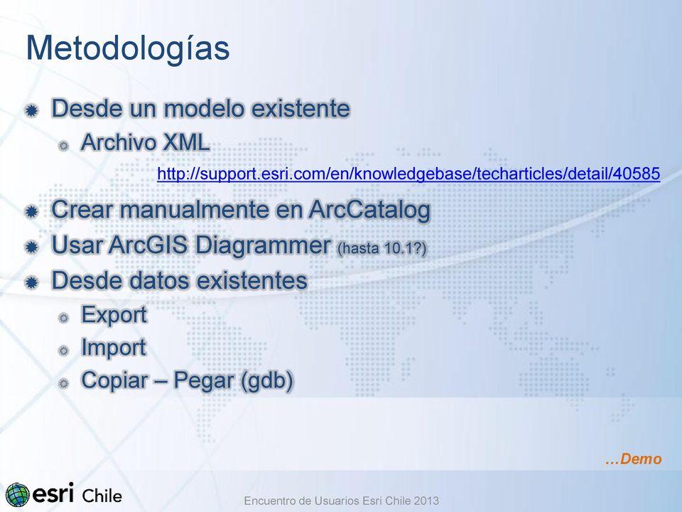 Dando un Paso Importante, Migrando a Geodatabase Mariela Núñez H - PDF