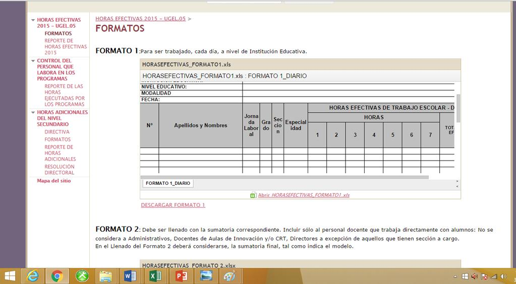 INSTRUCTIVO PARA EL USO DEL APLICATIVO DE REPORTE DE HORAS DE