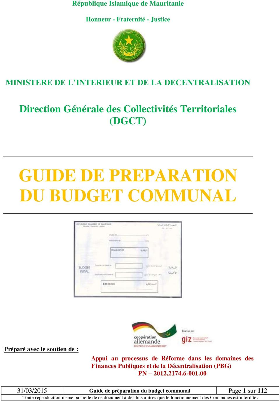 Budget Ministere Interieur Guide De Preparation Du Budget Communal Pdf