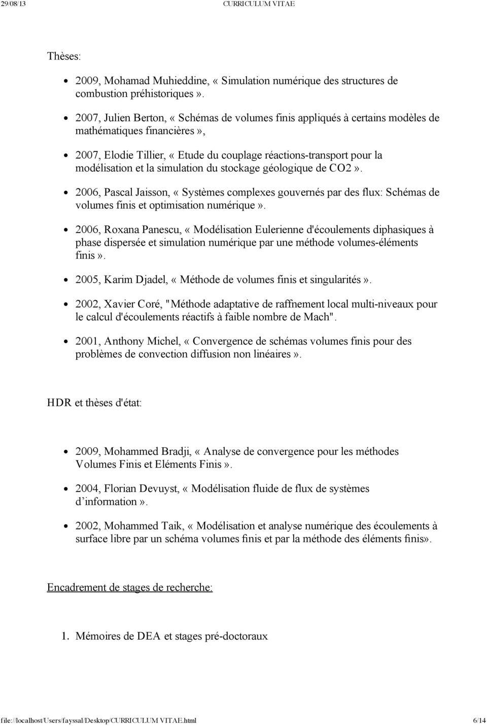 cv methode pdf