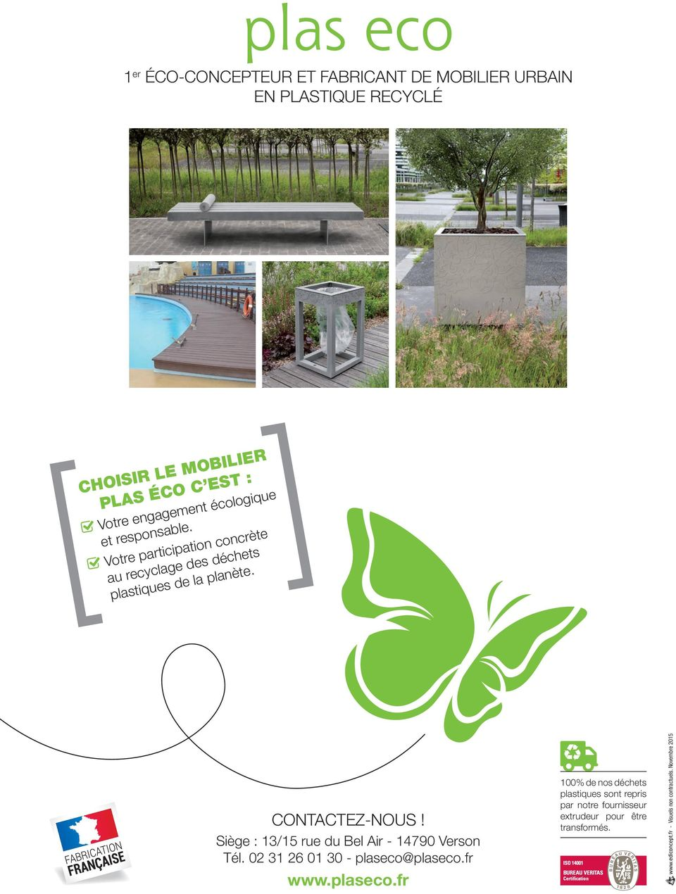 Mobilier Urbain Plastique Recyclé Fabricants Bords De Mer Piscines Pdf