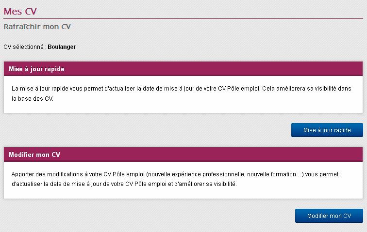pole emploi publier son cv ou pas