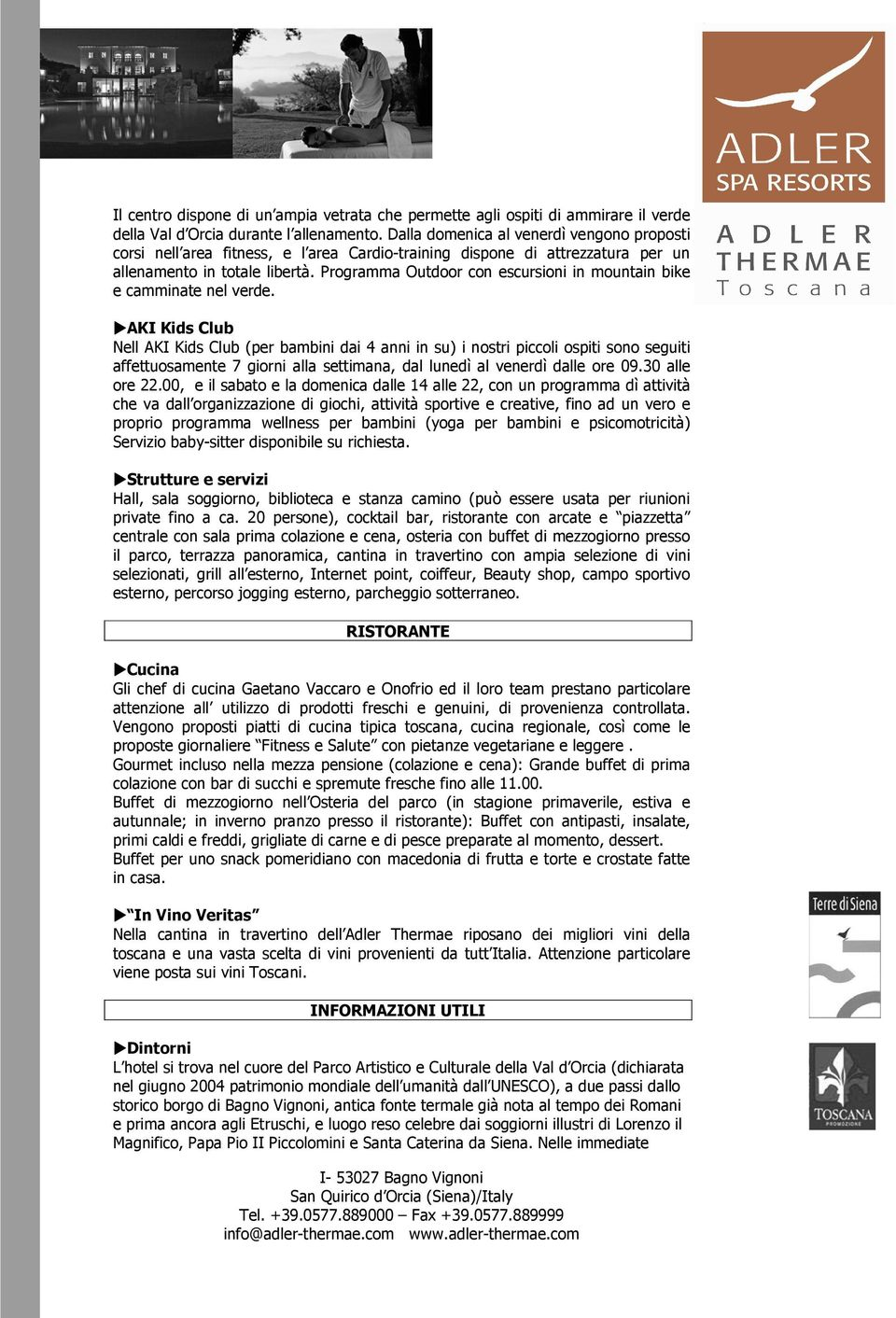 Caminetto Grill Chianciano Adler Thermae Spa Relax Resort Fact Sheet Pdf