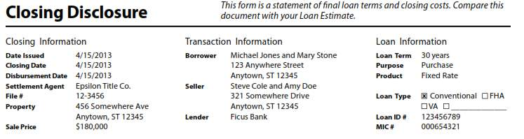 TABLE OF CONTENTS SCENARIO #1 FIXED PURCHASE Page 2 Loan Estimate - Loan Estimate Form