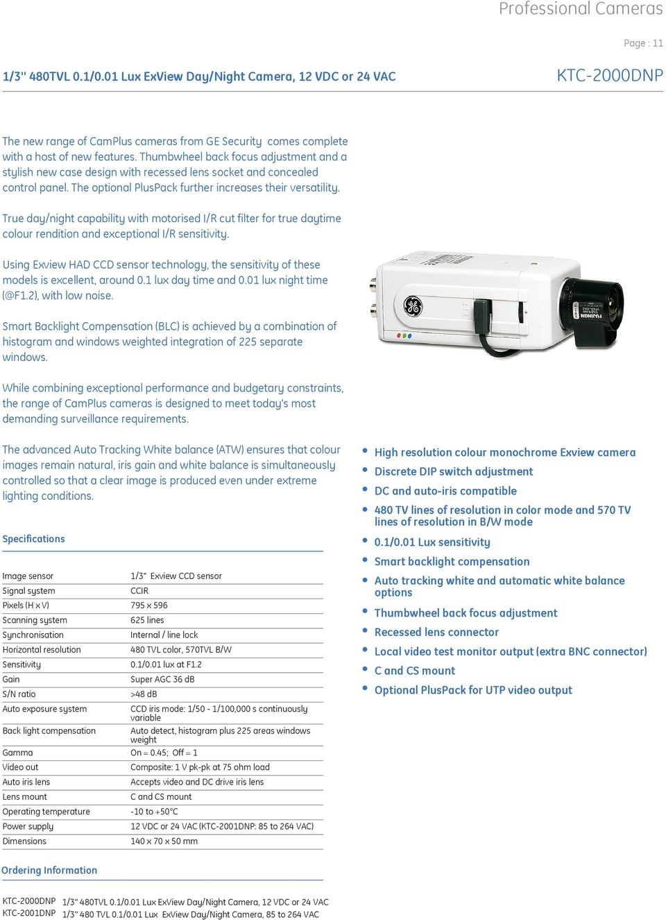 Multiplex 12mm Gamma Ge Security Cctv Product Catalogue Pdf