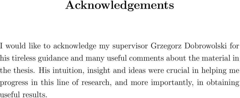 acknowledgement in thesis writing samples - Canasbergdorfbib
