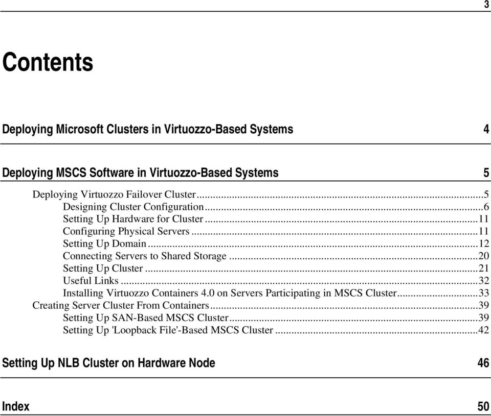 Deploying Microsoft Clusters in Parallels Virtuozzo-Based Systems - PDF