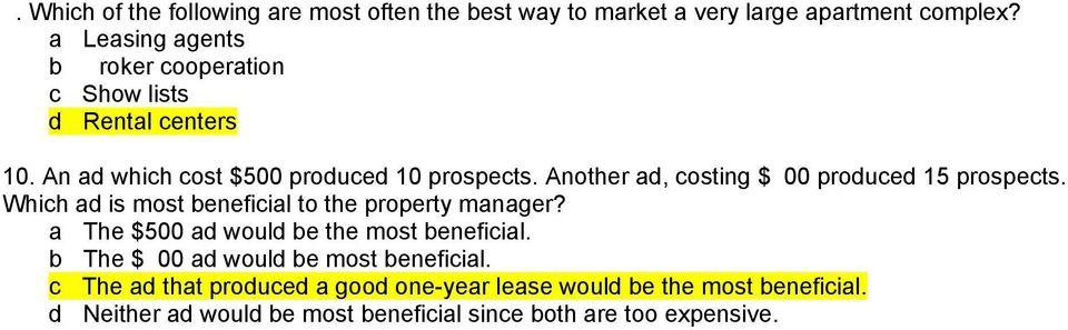 Property Management Chapter Quizzes - PDF