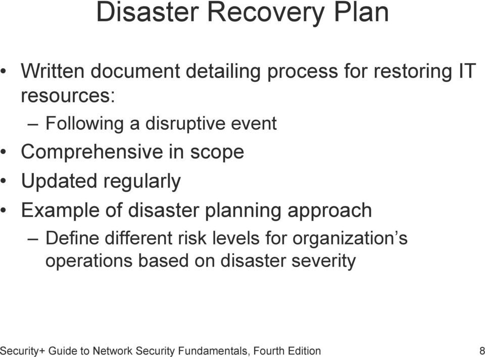 Network Disaster Recovery Planning disaster planning archives