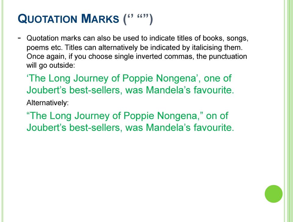 PUNCTUATION A brief overview - PDF