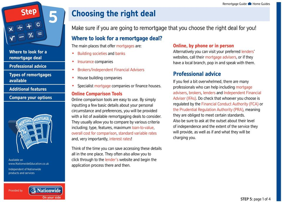 Guide to remortgaging Provided by Nationwide - PDF