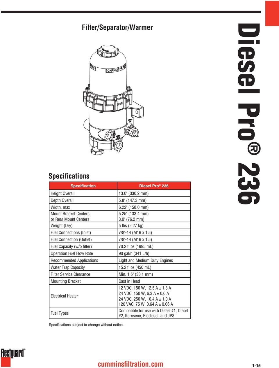 fuel filter water trap diesel engines