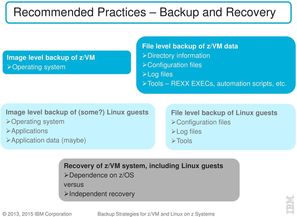 Backup Strategies for z/vm and Linux on z Systems - PDF