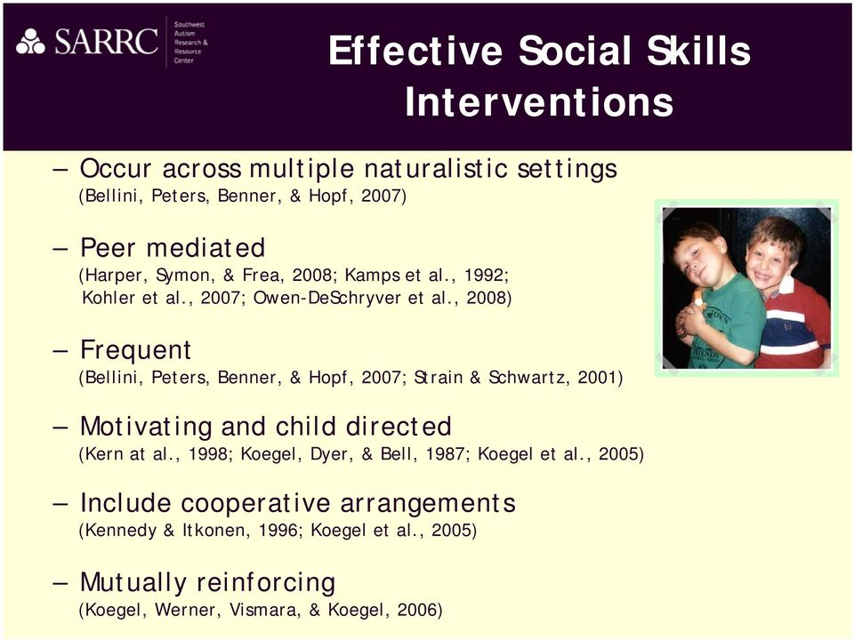 Social Skill Intervention Strategies for Children with Autism Megan