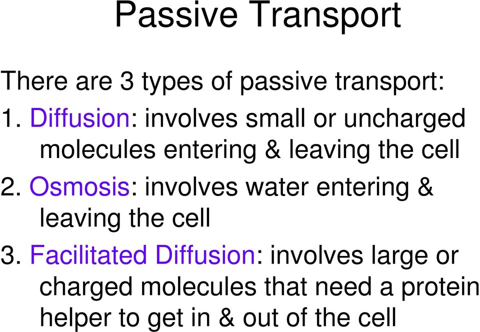 Osmosis, Diffusion and Cell Transport - PDF