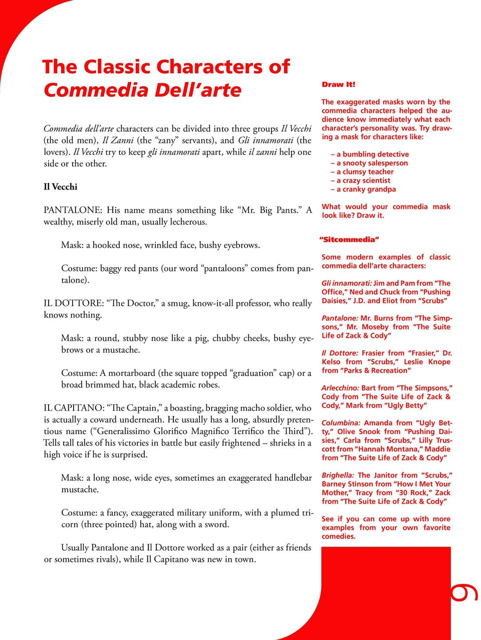 Commedia Dell'arte Word Meaning Commedia Dell Arte A Study Guide For Students Pdf
