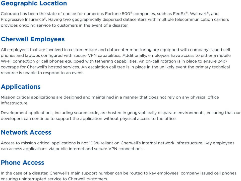 Cherwell Software Hosted Environment - PDF