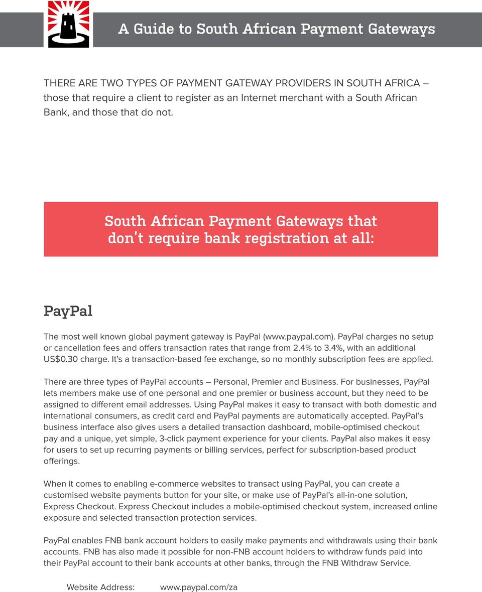 Service Clientèle Paypal South African Payment Gateways Pdf